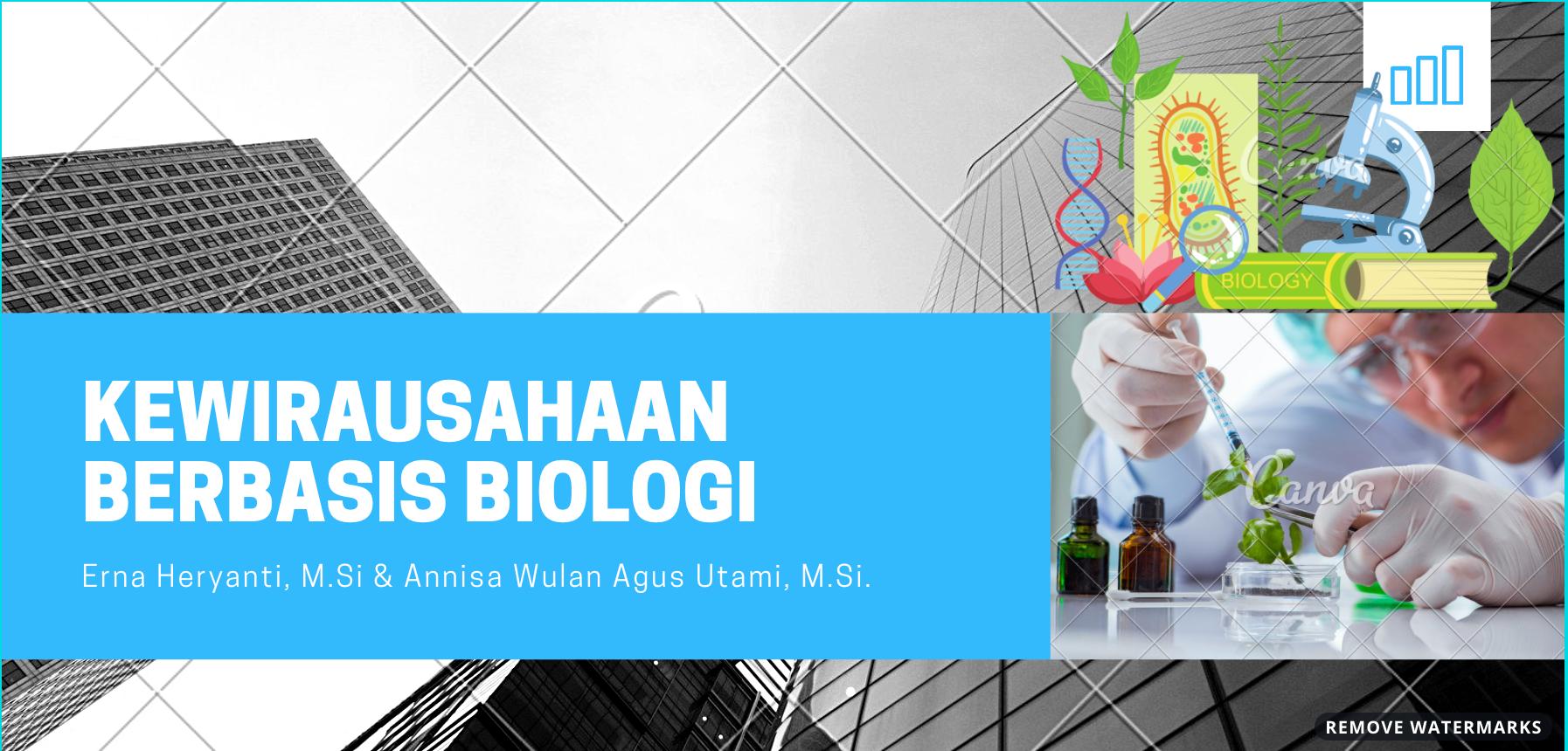 Kewirausahaan Berbasis Biologi 115 PBA